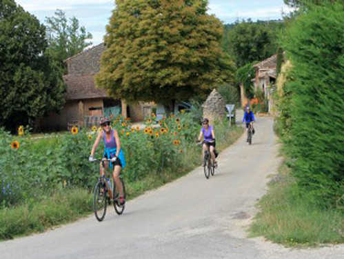 Cycling in Provence - Riding the backroads near Roussillon.