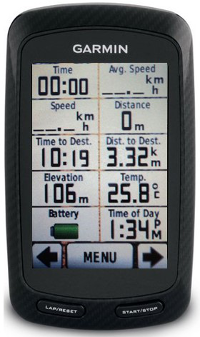 Our GPS systems - 1 of 2 Data screens - All the ride data that you could need.