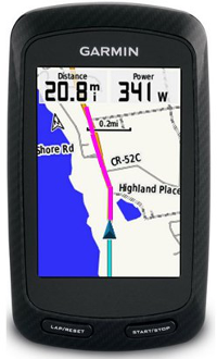 Our GPS systems - Profile screen - see the terrain ahead in advance.