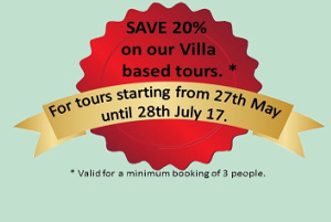 Save 20% on tours starting between May 27th and July 28th