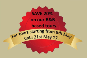 Save 20% on tours starting between May 8th and May 21st