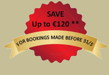 SAVE up to �120 - on tours booked before 31/05
