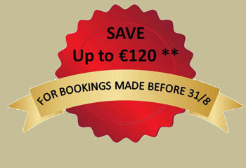SAVE up to �120 - on tours booked before 31/08