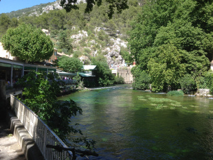 View of the nearby beautiful village - Fontaine de Vaucluse.