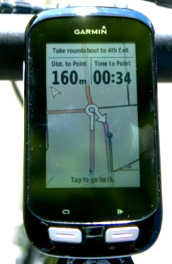 Provence cycling holidays - Our GPS systems - Colour maps with ride route highlighted - Clear, easy guidance.