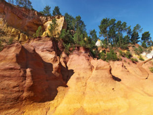 View of the ochre mine in Roussillon