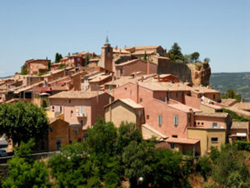 Roofs in Roussillon - one of the most beautiful villages in France