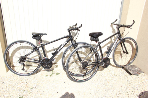 The brand new hybrid TREK bikes used in our tours