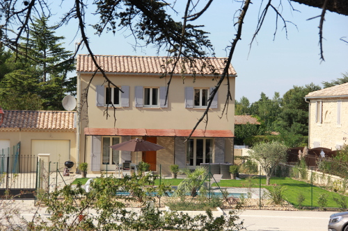 View of the Villa from the road in Taillades