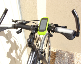 View of the Garmin GPS used in our tours.