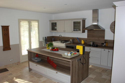 View of the spacious Kitchen in Taillades