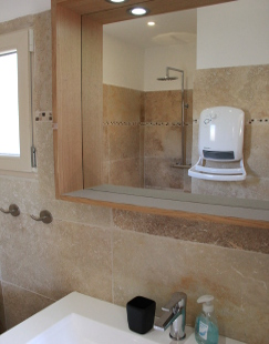View of the ensuite bathroom.