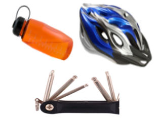 We provide all the essential bike equipment.