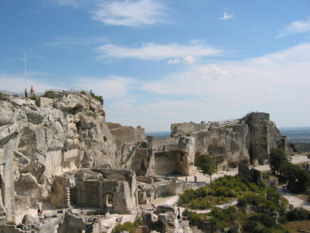 Cycling holidays - The spectacular Baux de Provence with its ancient village and Citadel - 30 mins drive away.