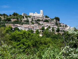 A view up to the hill-top village of Lacoste.