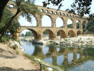 The ancient Roman Pont du Gard.