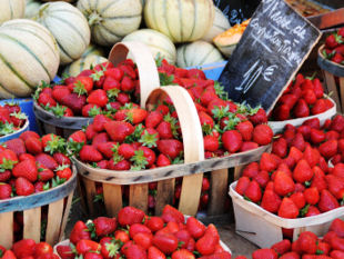 Provence cycling trips Provence - the famous local strawberries.