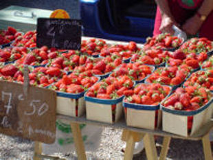 Provence cycling trips, France - the famous local strawberries.