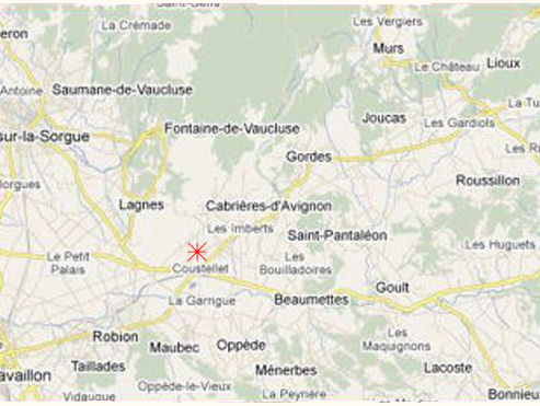 Provence bicycle tours - Map of the Vaucluse Department.