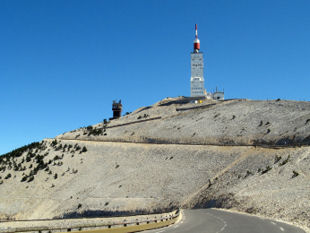 Provence cycling tours - Fancy a full on Tour de France climb? If so Mont Ventoux's just a short car journey away.
